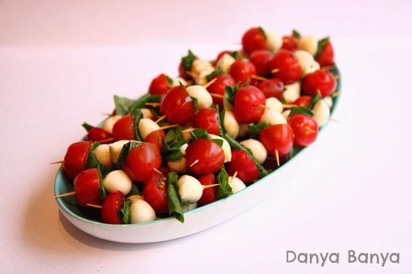 Caprese Salad: a simple finger food for this festive season ~ Danya Banya