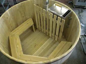 Wood Fired Snorkel Hot Tub Interior View