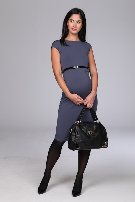 Grey maternity work wear dress £55