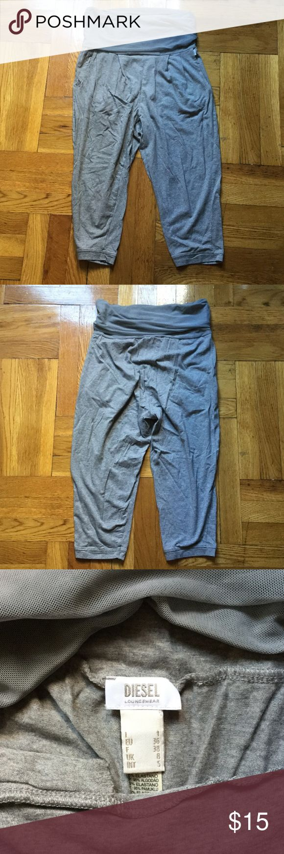Diesel Lounge Pants Cropped lounge pants. Slight drop crotch with pocket. True to size and in great condition. Diesel Pants Track Pants & Joggers