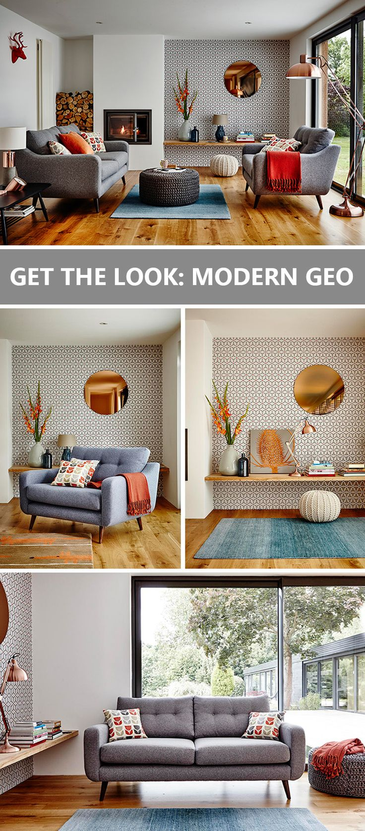 """Find out how to get our Scandi-inspired """"Modern Geo"""" look in your home. Click to read our style guide."""