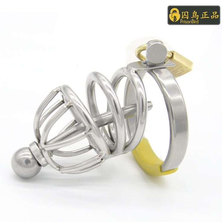 27.50$  Buy now - http://ali5e4.shopchina.info/go.php?t=32807768795 - Male chastity device stainless steel cock cage with chastity steel urethral locking penis cage adult sex toys for men penis ring  #buychinaproducts