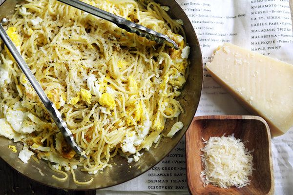 Spaghetti With Fried Eggs Recipe - NYT Cooking