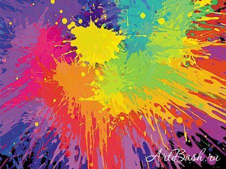 Исходники PSD - Брызги краски