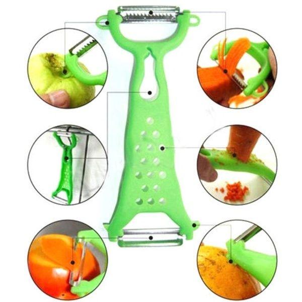 Vegetable Fruit Peeler Parer Julienne Cutter Slicer Kitchen Steel Tool Gadget