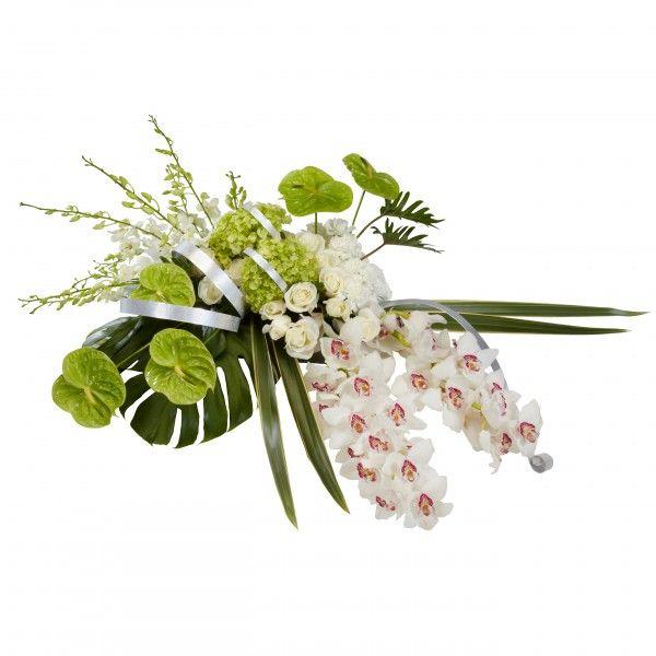 Tropical Casket Arrangement Floral Arrangement for Sympathy
