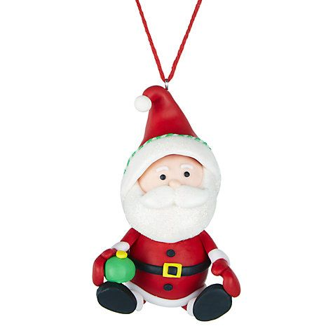 Buy John Lewis Claydough Santa Tree Decoration, Multi Online at johnlewis.com