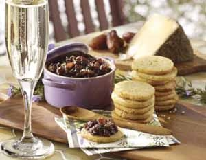 Rosemary Scented Feta And Olive Oil Shortbread With Jam - Cooking ...