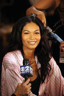Chanel Iman at the 2009 Victoria's Secret fashion show at The Armory in New York City.  Chanel Iman Robinson (born December 1, 1990[1]) is an American model, known professionally as Chanel Iman. She is best known for her work as a Victoria's Secret model. Iman was born in Atlanta, Georgia on December 1, 1990. She grew up in Los Angeles, California. Her mother is half Korean and half African American, and her father is African American.