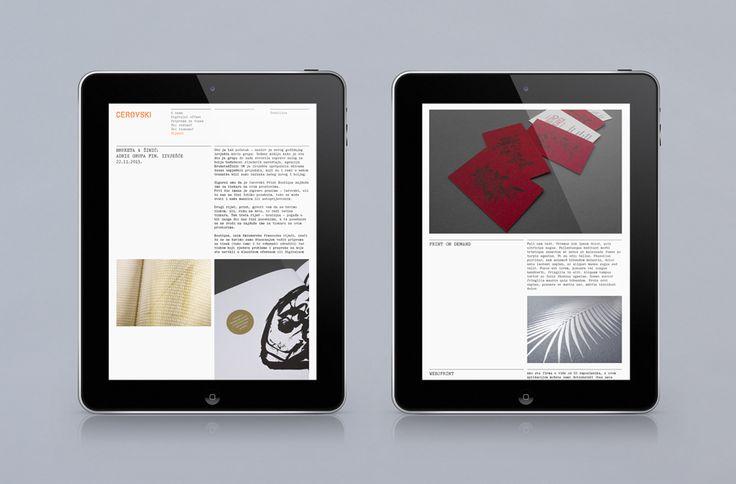Responsive website for print production studio Cerovski designed by Bunch