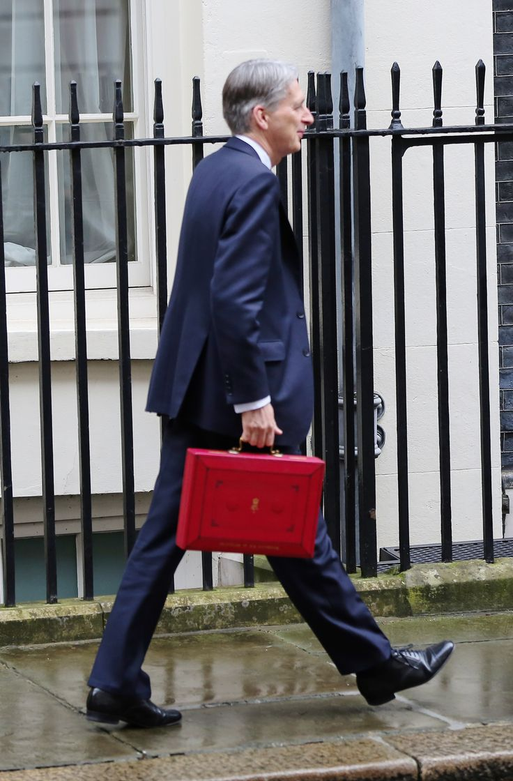 Chancellor of the Exchequer, Phillip Hammond leaves 11 Downing Street to deliver his budget speech | Hollywood.com