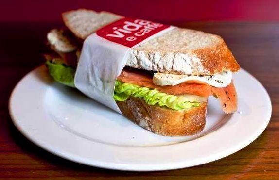 Vida e Caffé. One of our famous Vida sandwiches. @Vidaecaffe #forgotyourlunch?