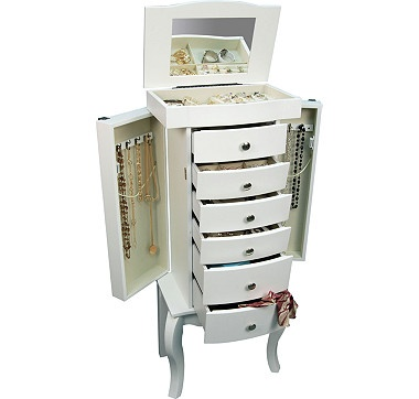 When you need lots of storage for your jewellery pieces, you can turn to this stylish jewellery armoire. $399.99