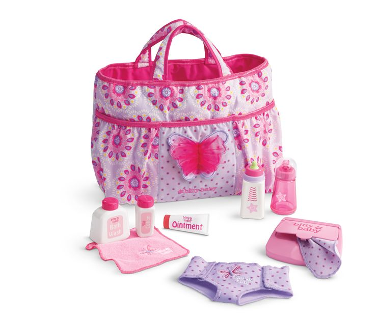 mommy 39 s diaper bag for little girls includes choice of 4 necessities. Black Bedroom Furniture Sets. Home Design Ideas