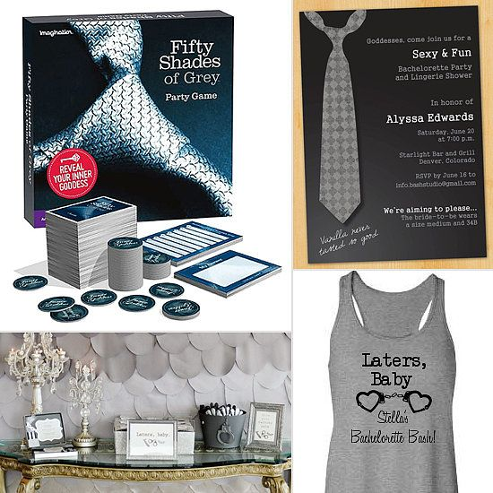 Fifty Shades of Grey Bachelorette Party Theme. Hahaha seems entertaining enough.
