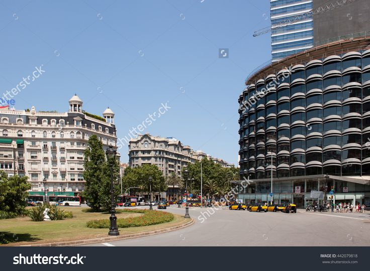 Barcelona, Spain - July 12, 2013: Traffic On The Streets Of Barcelona Stock Photo 442079818 : Shutterstock