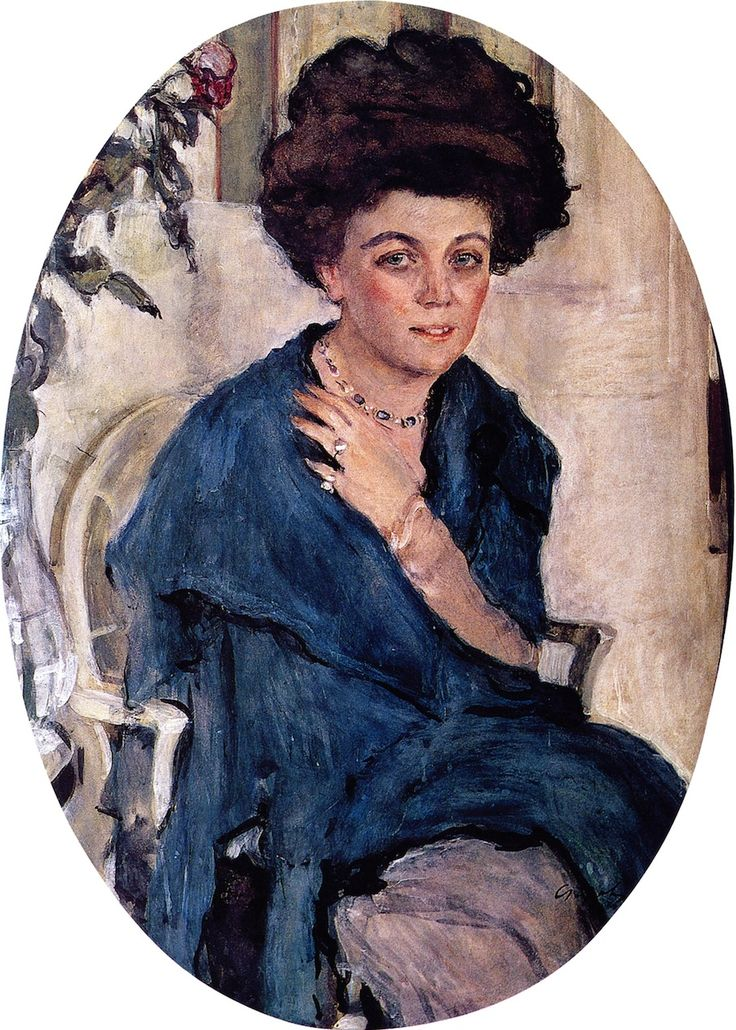 The Athenaeum - Portrait of Yelena Oliv (Valentin Serov - )