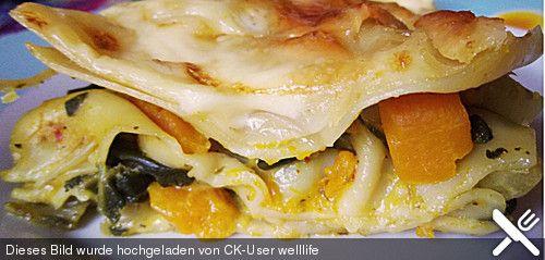 Vegetarische Kürbis - Mangold - Lasagne