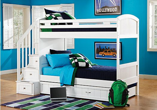 Shop for a Cottage Colors White Twin Twin Step Bunk Bedroom at Rooms To Go Kids. Find that will look great in your home and complement the rest of your furniture.