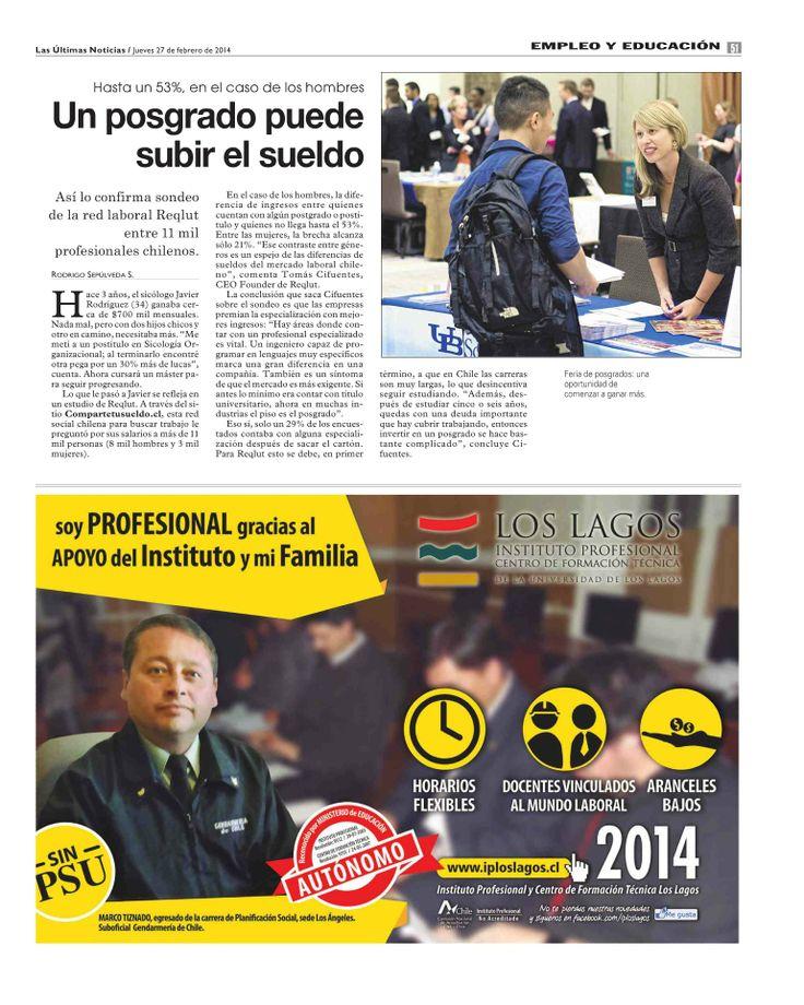 Un posgrado puede subir el sueldo @ Las Últimas Noticias