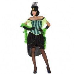 #Disfraz de #Charleston #Verde para Mujer En nuestra tienda de #disfraces #online disponemos del mayor stock en #disfraces #originales para tus fiestas de #Carnaval