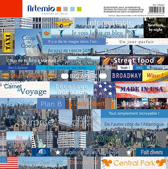 Feuille Stickers New York de Artemio