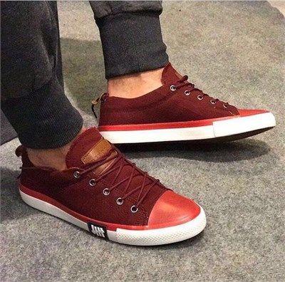 Erkek Günlük Sneakers Spor Ayakkabı Bordo