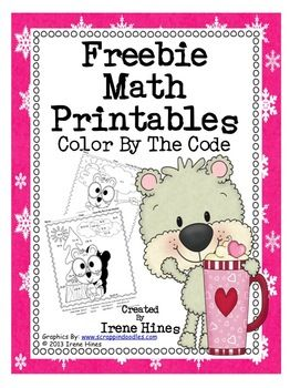 Freebie Math Printables: Color By The Code Puzzles To Practice Basic Addition and Subtraction Math Facts This is a set of 2 FREE math puzzles: ~ One Color By The Sum and Difference ~ One Color By The Sum