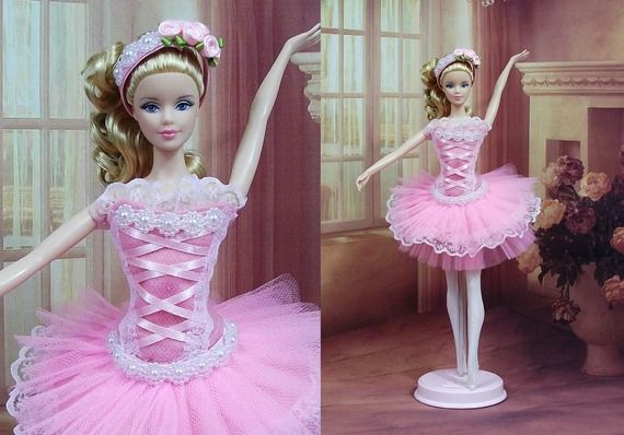 "Danseuse robe Barbie  "" Tutu N°4 "" tenue Ballerine pour poupée Barbie f3788"