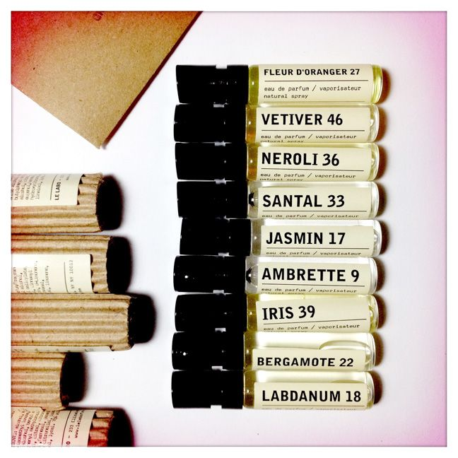 Le Labo Fragrance Samples - scents that you can mix and fuse to 'sculpt' your own fragrance, on a molecular level