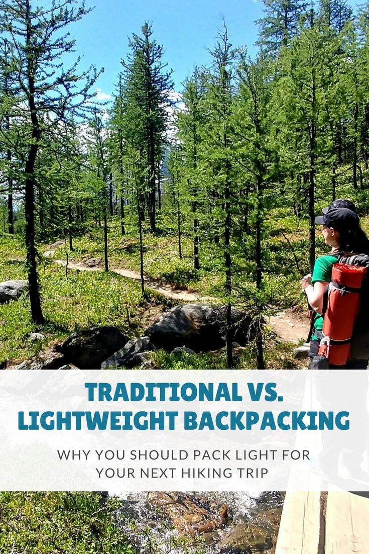 "The difference between traditional and lightweight backpacking, what qualifies as ""ultralight"", the benefits of packing light, and how to lower the weight of your pack."