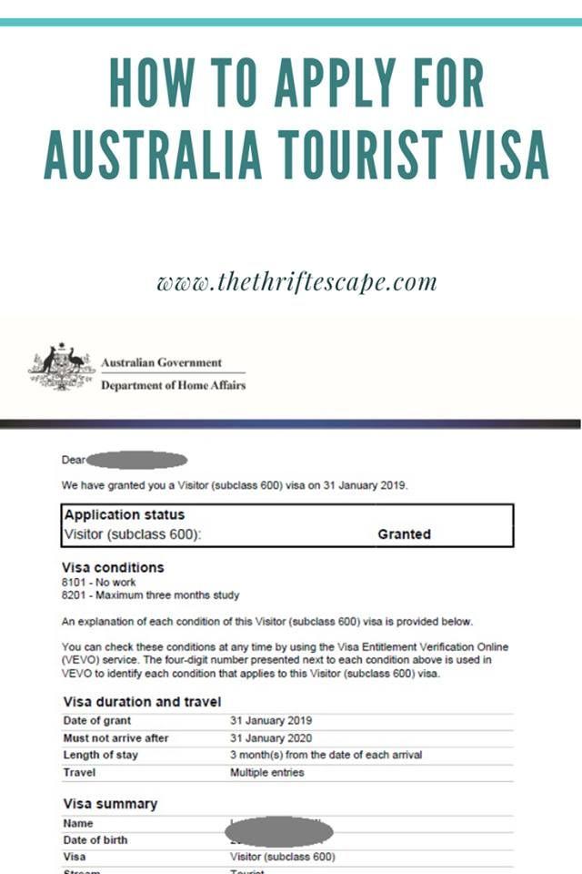 Australia Tourist Visa From India Processing Time