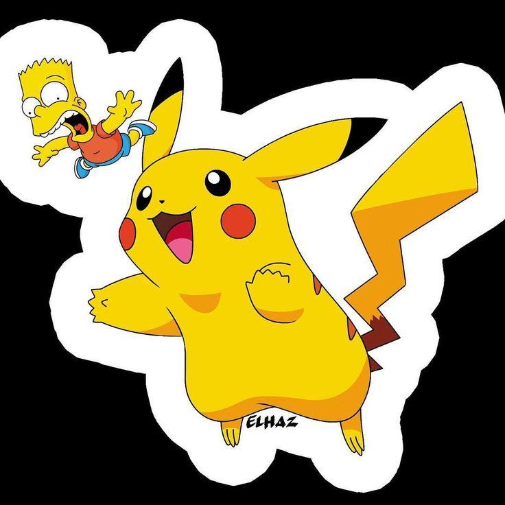 Stickers project #simpson #stickers #pokemon #pikachu #quotes #creation #art #design #graphic #graphicdesign #vhs #elhaz #elhazvhs #pin #pins #movie #cinema #series #streetart #art #draw #bootleg #gb #gba #gbc #bestreet #artist #nancy #metz #strasbourg by zimmermann_loic