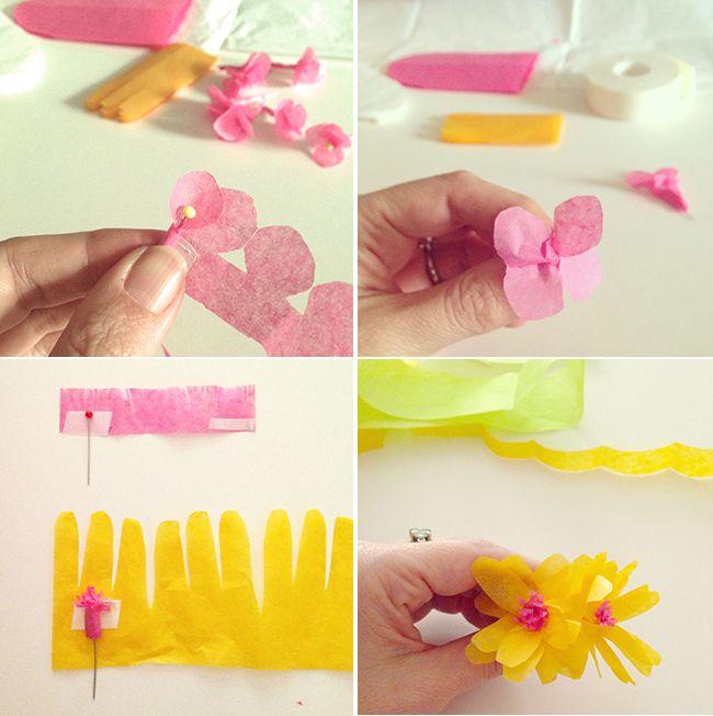 tutorial ghirlanda fiori di carta per decorare la tua casa per la Pasqua e la primavera.