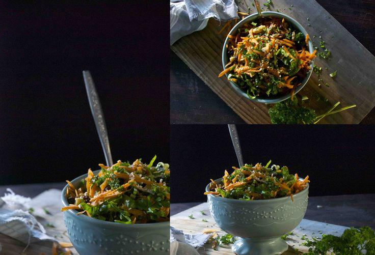 Carrot, Raisin and Mint Salad