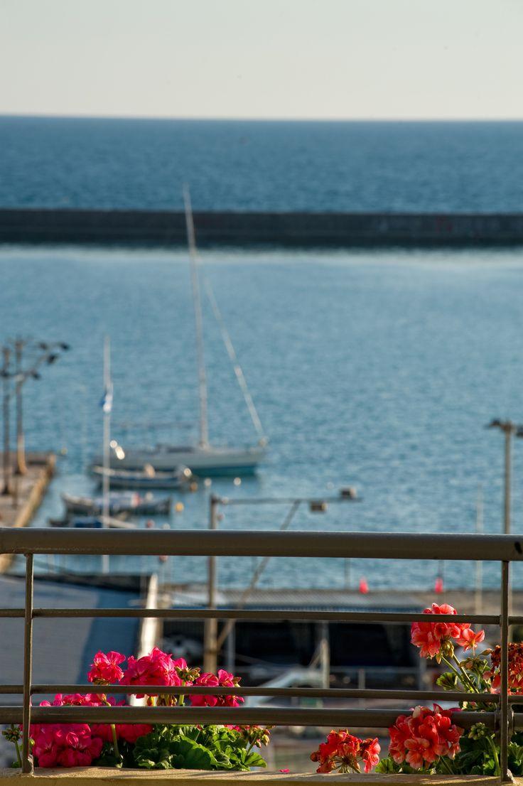 Pharae Palace #Hotel: View to the port of #Kalamata, #Greece