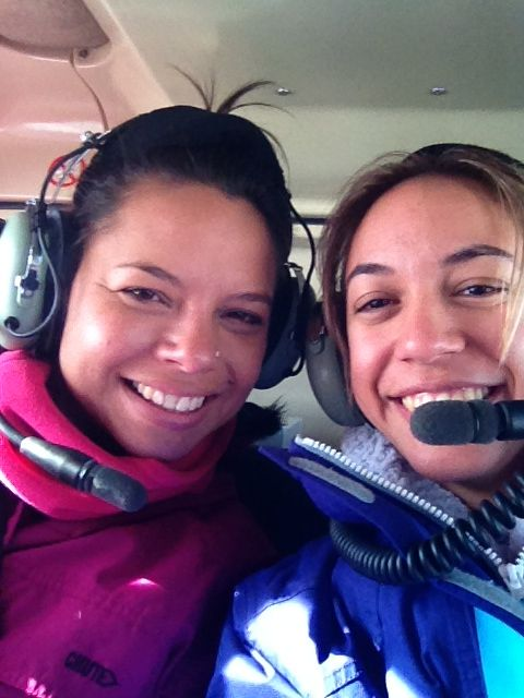 Bennita & I helicopter ride to falls creek
