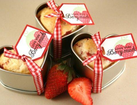 Heartfelt strawberry muffins!!