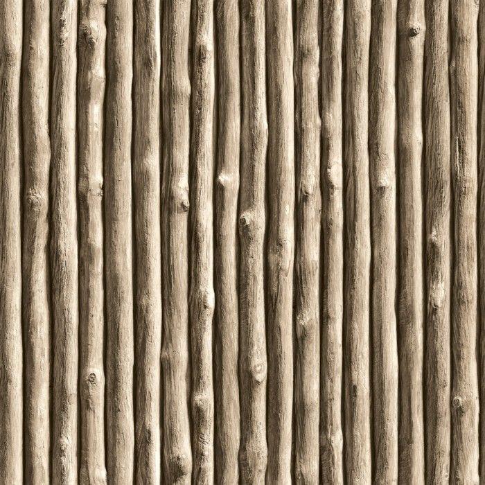 Boomstammen Vliesbehang Bruin bij Behangwebshop