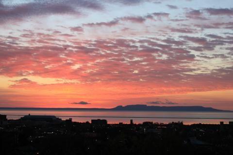Gorgeous sunrise and the Sleeping Giant.