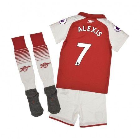 Arsenal Alexis Sanchez 7 Hjemmebanesæt Børn 17-18 Kort ærmer #Billige Fodboldtrøjer
