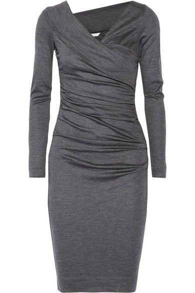 Diane von Furstenberg Bentley ruched wool jersey dress