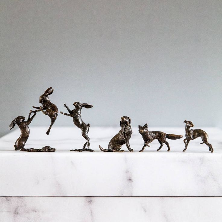 Miniature Bronze Labrador Statue