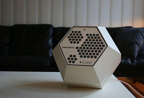 Tandberg Fasett hexagonal speakers 1960s