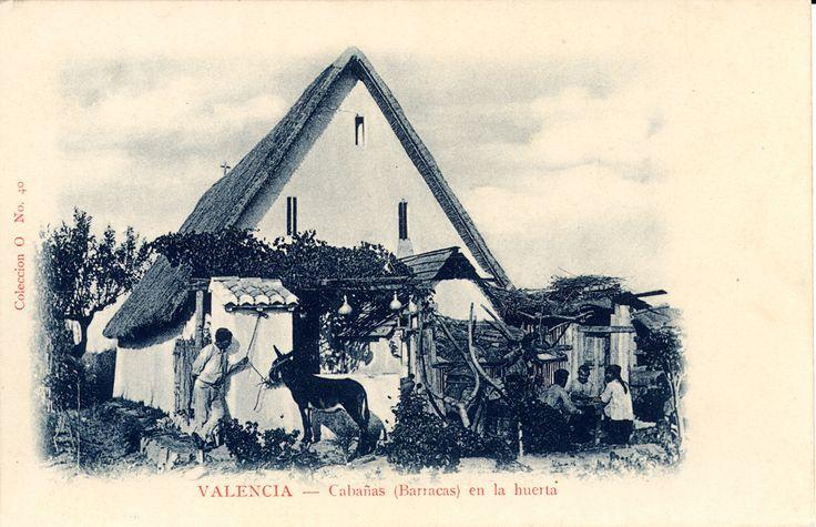 Barracas en la huerta de Valencia, 1908