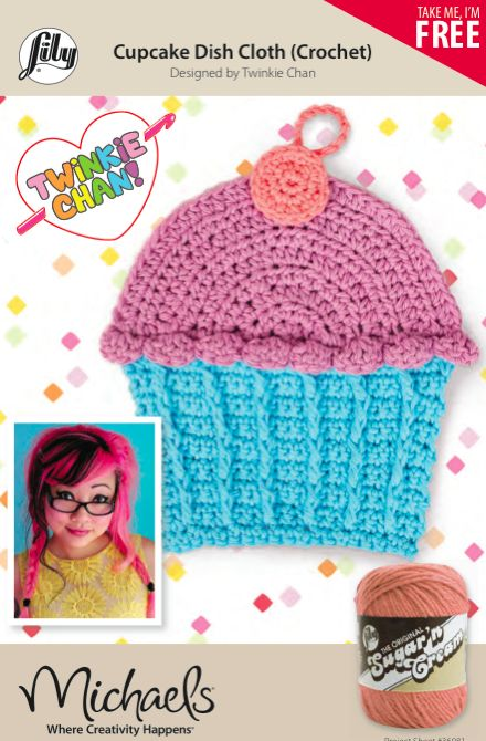 New Free Crochet Pattern! Cupcake Dish Cloth, Designed For