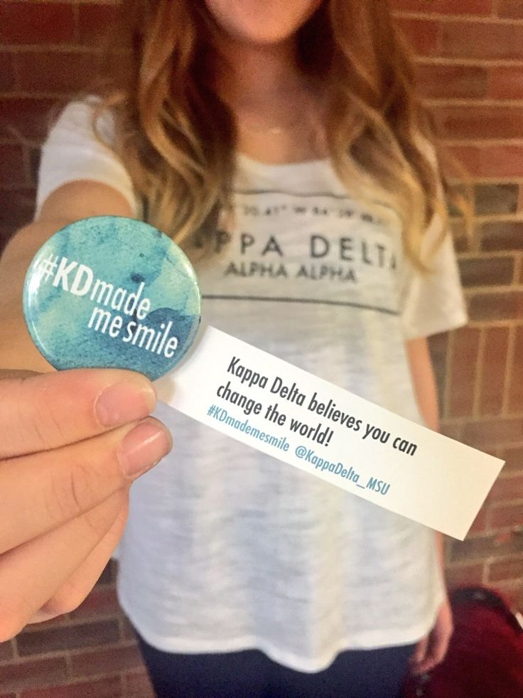 Pass out buttons and confident messages on campus. Add a hashtag and/or your social media information to encourage others to join the conversation online.