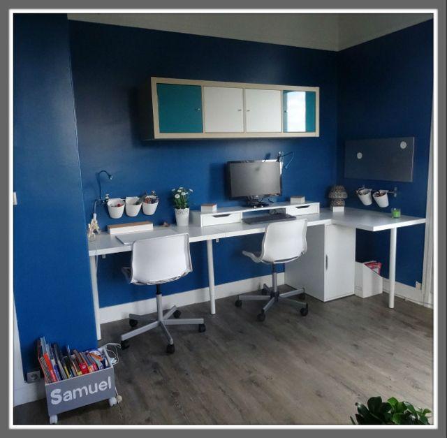 s am nager un coin bureau mon avant apr s ambiance su doise bureau pour enfant. Black Bedroom Furniture Sets. Home Design Ideas