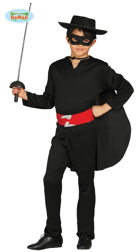 Spanish Bandit Zorro Hat Children Costumes Halloween Party Fancy Dress