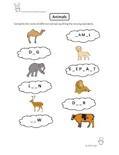 free fun worksheets for kids free printable fun worksheet evs animals